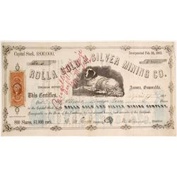 Rolla Gold & Silver Mining Company Stock