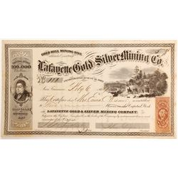 """""""Lafayette Gold and Silver Mining"""" Company Stock"""