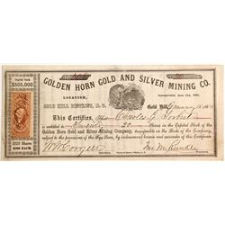 Golden Horn Gold and Silver Mining Company Stock