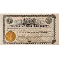 Goldfield May Queen Mining Company Stock Certificate: Wingfield Collection