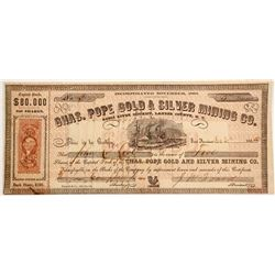 Chas. Pope Gold & Silver Mining Company Stock