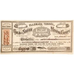 Ellemada Tunnel and Gold and Silver Mining Company Stock