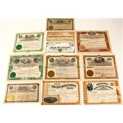 Nevada Town Collection of Mining Stock Certificates