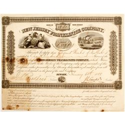 Extremely rare New Jersey Franklinite Company Stock