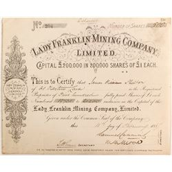 Lady Franklin Mining Company Limited Certificate