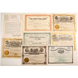 Seven New Mexico stock certificates & One Letter