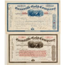 Granville Gold Company of New York Stock, Two Different Colors