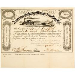 American Exchange Mining and Smelting Company Stock