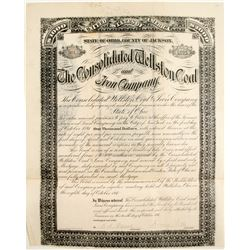Consolidated Wellston Coal and Iron Company Bond