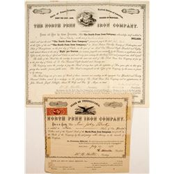 North Penn Iron Company: Stock Number 2! and Bond