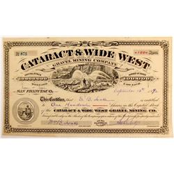 Cataract & Wide West Gravel Mining Co