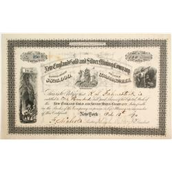 New England Gold and Silver Mining Company Stock