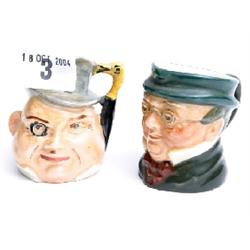 Doulton miniature Toby jug 'Mr Pickwick' plus one other