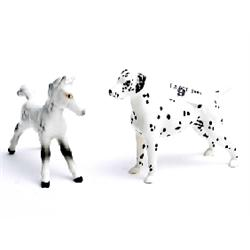 2 Beswick animals, Dalmatian (repair to tail) and pony