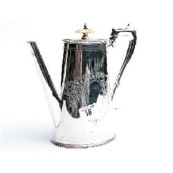 Elkington plated water jug with decorative bone top