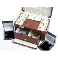 Box assorted 9ct gold plus costume jewellery