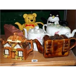 7 x Price and Price Kensington novelty tea pots