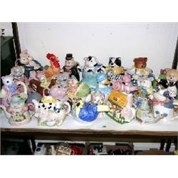Approx 50 novelty tea pots