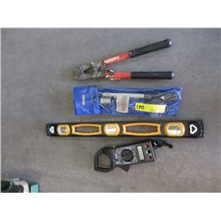 Digital Clamp Meter, Level, Bolt Cutters & More