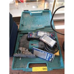 Makita Jig Saw & Several Replacement Blades