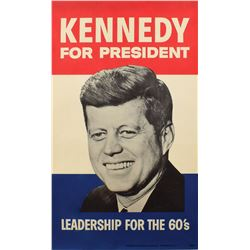 John F. Kennedy 1960 Campaign Poster