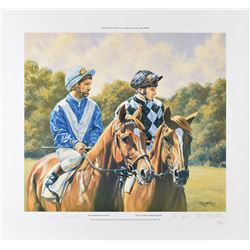 Willie Shoemaker and Steve Cauthen