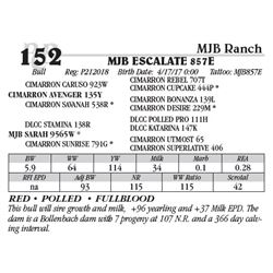 Lot 152 - MJB ESCALATE 857E