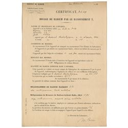 Marie Curie Document Signed