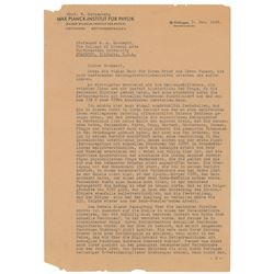 Werner Heisenberg Typed Letter Signed with Hand-Drawn Diagrams