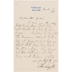 Charles Lyell Letter Signed
