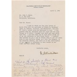 Robert A. Millikan Typed Letter Signed