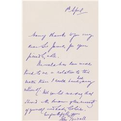 John Tyndall Autograph Letter Signed