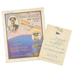 John Alcock and Arthur Brown Pair of Signed Menus