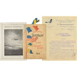 Deperdussin Monoplanes Archive of Letters and Photographs