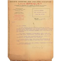 Louis Charles Breguet Typed Letter Signed