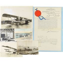 Curtiss Hydroplanes Document and Group of Photographs