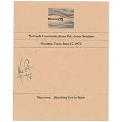 Neil Armstrong Signed Program