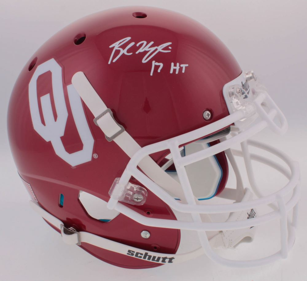 Image 1   Baker Mayfield Signed Oklahoma Sooners Full-Size Authentic  On-Field Helmet 47a840795
