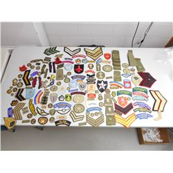 ASSORTED RANK AND MILITARY BADGES