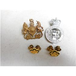 ASSORTED CAP/COLLAR BADGES & PINS