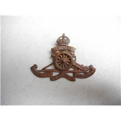 WWI/II ROYAL ARTILLERY REGIMENT CAP BADGE