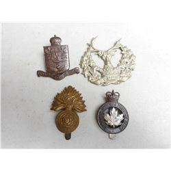 CANADIAN & BRITISH CAP BADGES