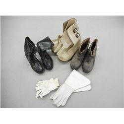 ASSORTED BOOTS & GLOVES