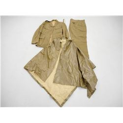 UNIFORM WITH WWII RAINCOAT/ GROUND COVER