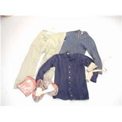 ASSORTED KNITTED AND FLANNEL MILITARY WEAR