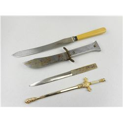 ASSORTED LETTER OPENERS & KNIVES