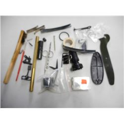 ASSORTED GUN PARTS AND ACCESSORIES