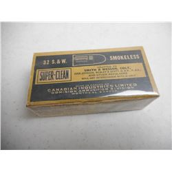 EMPTY ANTIQUE DOMINION/CIL 32 S&W SMOKELESS BOX