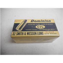 EMPTY ANTIQUE DOMINON/CIL 32 S&W LONG BOX
