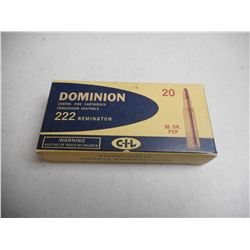 EMPTY ANTIQUE DOMINION/CIL 222 REMINGTON BOX
